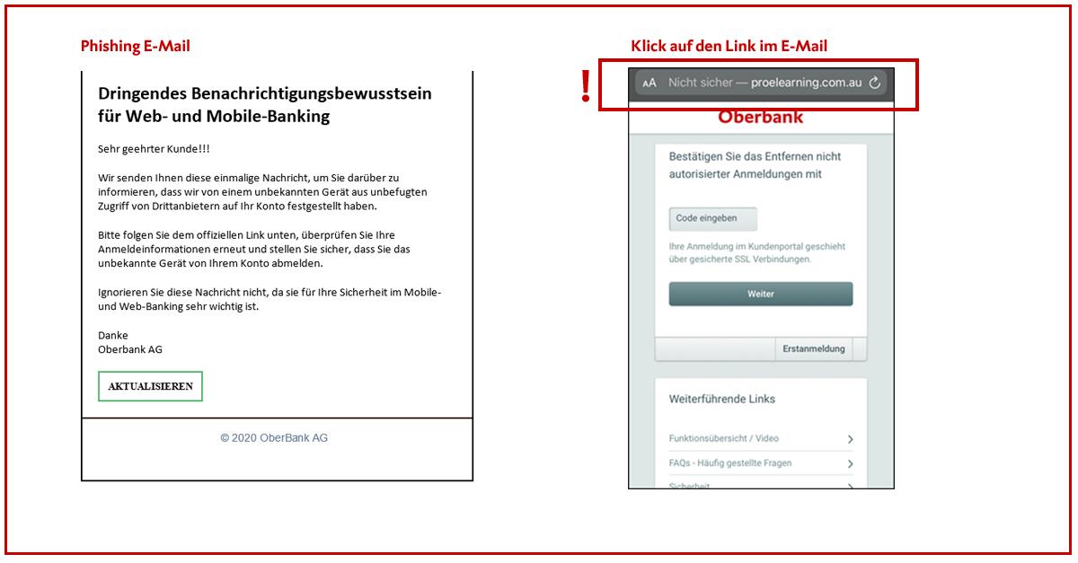 Vorsicht Vor Neuen Phishing E Mails Oberbank